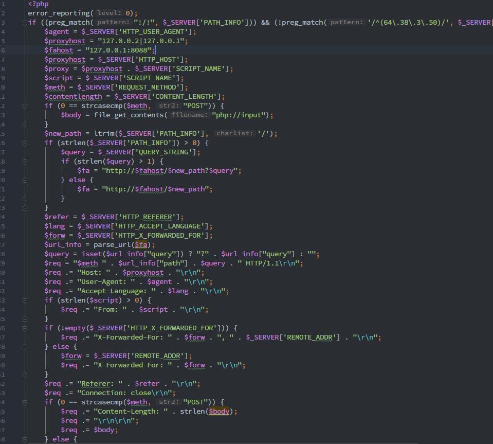 proxy code